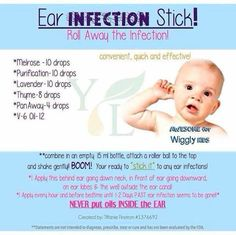 Ear infection treatment with essential oils. Never put inside the ear! Anybody interested in purchasing the oils can contact me or order directly from Young Living. Essential Oils Ear Infection, Oils For Ear Infection, Ear Infection Home Remedies, Ear Ache Essential Oil, Earache Remedies, Flu Remedies, Essential Oils For Babies, Yl Essential Oils, Young Living Essential Oils