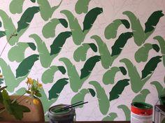 Diy Martinique wallpaper progress