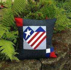 TUTORIAL:  Patriotic Heart Pillow