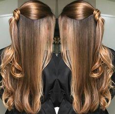 Hairstyles long thin colour 37 new Ideas Hair Lights, Light Hair, Ombre Hair, Balayage Hair, Curly Hair Styles, Natural Hair Styles, Brown Blonde Hair, Hair Highlights, Color Highlights