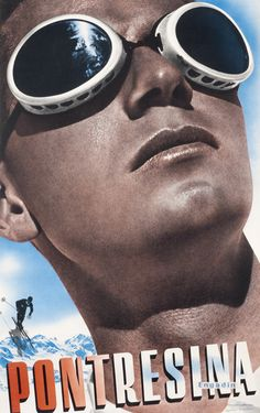 Pontresina - Engadin by Matter, Herbert | Shop original vintage #ski #posters online: www.internationalposter.com