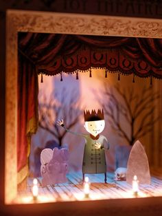 Light Fantastic Toy Theatre on Pantone Canvas Gallery Light Fantastic Toy Theatre auf Pantone Leinwand Galerie Pantone, Puppet Costume, Toy Theatre, Lights Fantastic, Marionette, Paper Illustration, Illustrations, Up Book, Shadow Puppets