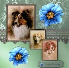 Dogs and Flowers on Craftsuprint - View Now!