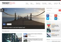 New #WordPress #Theme suitable for blogs or magazines. Just put your website in other level! http://lovew3design.com/themes/trendyblog-wordpress-theme/