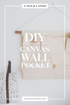 A Guide to Making a Canvas Wall Storage! Diy Canvas, Canvas Fabric, Wall Canvas, Wall Art, Wall Organization, Wall Storage, Wall Pocket Organizer, Do It Yourself Inspiration, Diy Sewing Projects