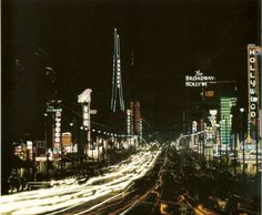 Hollywood boulevard,  looking east towards vine street, Los Angeles,  1959