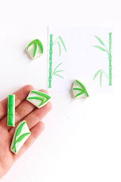 #stamps #rubberstamps #handcarved #woodland #WoodlandTale #leaf #scrapbooking #botanical #bamboo
