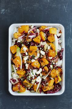 The Pool   Food and home - Butternut squash with coconut, radicchio, endive and feta
