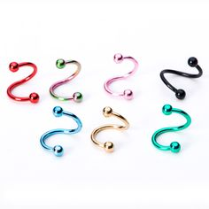 Titane Twist Circulaire Barbell Boule Lèvre Earring Belly Navel Ring