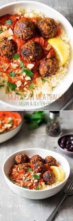 Vegan Moroccan meatalls
