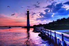 Barnegat Lighthouse, Long Beach Island, New Jersey Beautiful World, Beautiful Places, Peaceful Places, Beautiful Sunset, Amazing Places, Barnegat Lighthouse, Costa, Long Beach Island, Sunset Colors