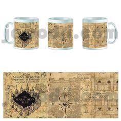 Taza mug hogwarts harry school escuela potter mapa merodeador 325ml