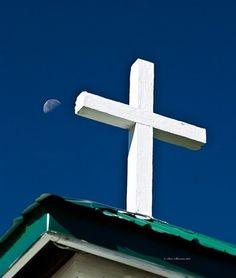 Cross on Esterbrook Church by Sam Sherman in WyomingSummer on Photography By Sherman's Store