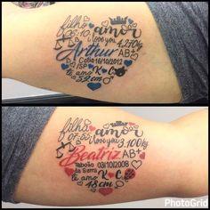 "- Studio 83 SP (@studio83tattoo) auf Instagram: ""homenagem para os filhos tattoo By @thidonio"" [ ""Stats tattoo for Evie and saxon"" ] # # #Comment, # #Studios, # #Instagram, # #Ps, # #Tatoos, # #Piercings, # #Ideas"