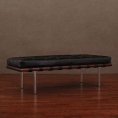 Andalucia Black Leather Bench - Overstock™ Shopping - Great Deals on Benches - $209- a design classic look.  Can't go wrong. Timeless