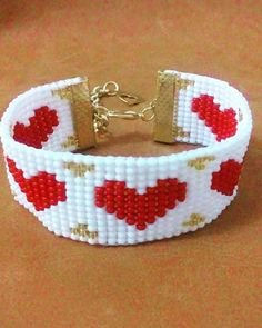 #bracelet #red#bijoux #heart#handmade #madewithlove #jewelry #artesanal #fashion #white #miyukibeads #miyukibracelets #beautiful