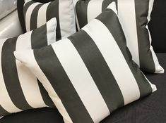 Talk about hot cakes! We just got a full supply of this popular black and white stripe fabric in from @sunbrella only 2 weeks ago, and it's almost all gone already! If you are looking for a classic look with an soft, all-weather fabric, check out Sunbrella Cabana Classic. 🖤🤍 . #cushionfactory #outdoorcushions #outdoorchaircushions #outdoorfurniturecushions #outdoorliving #outdoorseatcushions #outdoorloungecushions #outdoorbenchcushions #sunbrella #custommadeoutdoorcushions Sunbrella Outdoor Cushions, Bench Cushions, Brisbane, Melbourne, Perth Australia, Cushion Fabric, Striped Fabrics, Cabana, Classic Looks
