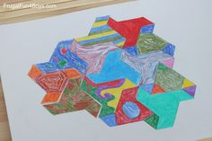 Print and Color Tessellation Puzzles