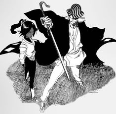 Bleach// Urahara and Yoruichi
