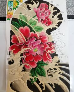 Sheet 2 water and flowers set Floral Tattoo Design, Tattoo Designs, Jack Tattoo, Peonies Tattoo, Desenho Tattoo, Buddha Art, Tattoos With Meaning, Sleeve Tattoos, Tatting