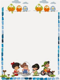 Coloring Pages, Education, Learning: Kids Background Design Printable Kids Background, Creative Background, Page Borders Design, Border Design, Borders For Paper, Borders And Frames, Portfolio Kindergarten, School Border, School Frame