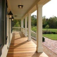 New Old Farmhouse: Wrap-Around Porch traditional porch porch columns Front Porch Columns, Front Porch Design, Wood Columns, Front Porches, Front Porch With Columns, Front Porch Posts, Porch Designs, Wood Beams, Diy Balkon