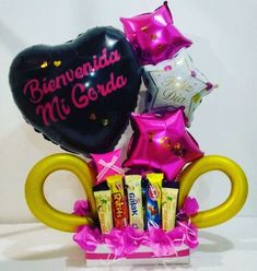 Welcome Baskets, Ideas Para Fiestas, Pink Candy, Photoshoot, Star, Tableware, Gifts, Inspiration, Breakfast For Children