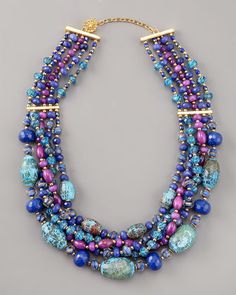 Multi-Strand Beaded Necklace by Jose & Maria Barrera at Neiman Marcus.