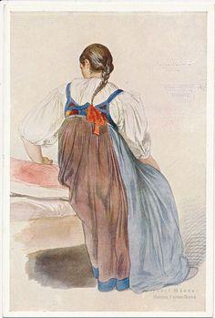 Costume of Cieszyn or Těšín, Silesia Folk Costume, Costumes, German Costume, Highland Village, Folk Clothing, Silk Brocade, Beautiful Patterns, Folklore, Art Forms