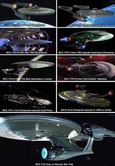 Evolution of The USS Enterprise NCC-1701