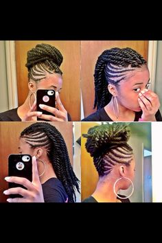 Corn rows and rope twist