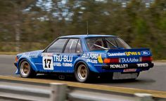Australian Legend: Dick Johnson in his Tru-Blu XD Falcon GTHO.   v@e.