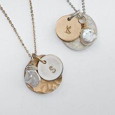 Hand-stamped artisan delicate necklace at RedEnvelope.com