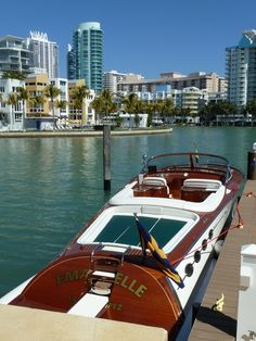 pinterest.com/fra411 - #wooden #classic #boat  Emmanuelle Miami