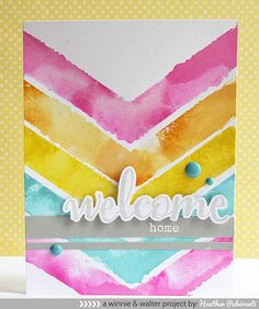 Welcome Home card by Heather Pubirenti for Winnie & Walter stamps