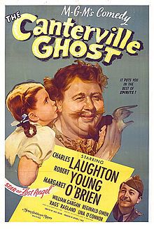 The Canterville Ghost    Directed by	Jules Dassin  Norman Z. McLeod (uncredited)  Produced by	Arthur Field  Written by	Edwin Blum  Oscar Wilde (story)  Starring	Charles Laughton  Robert Young  Margaret O'Brien  Editing by	Chester Schaeffer  Release date(s)	July 28, 1944