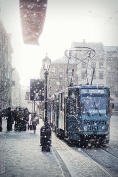 Winter in Lviv, Ukraine.