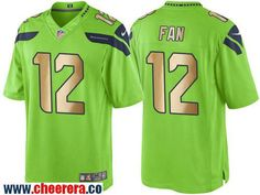 mens seattle seahawks 12 fan green 2016 color rush gold stitched nfl nike limited jersey