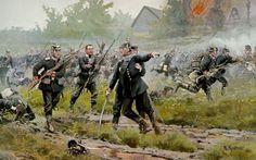 1866 08-03 Königgratz - Muerte del Prinz Anton von Hohenzollern en Rosberitz - Richard Knotel.