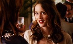 Pin for Later: Why Blair Waldorf Is the Queen Bee of GIFs  Does anyone look this amazing drinking Champagne?