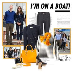 """I'm on a boat!"" by helleka ❤ liked on Polyvore featuring J Brand, MICHAEL Michael Kors, Sophie Hulme, Reed Krakoff and Tiffany & Co."
