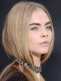 Chanel, PFW: Mirror ball eyes - Cara Delevingne