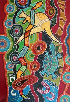 Art aborigène / dreamtime Version Voyages, www. Indigenous Australian Art, Indigenous Art, Aboriginal Art Australian, Kunst Der Aborigines, Arte Linear, Aboriginal Dot Painting, Arte Tribal, Aboriginal Culture, Art Populaire