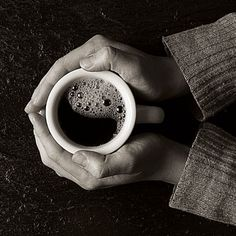 Coffee in hand #Monochrome #Photography
