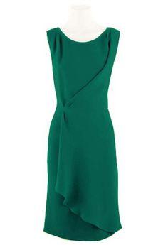 Đầm ôm tà xéo cách điệu (xanh) - 3C150532GRE Đầm công sở | www.zadora.vn