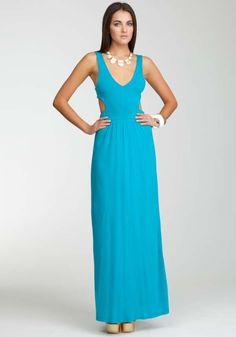 Buy Bebe Hilda Side Cutout Maxi Dress – Capri Breeze and Wear It!