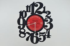 Vinyl Record Clock artist is Johnny Cash by vinylclockwork on Etsy, $23.00