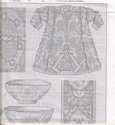 Gráficos de Ponto Cruz: kimonos Orientais ponto de cruz