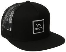 RVCA VA All The Way Trucker Hat Black Mesh Snapback