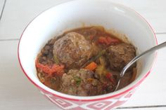 Italian Lentil Soup with Meatballs | Food L'amor by Melissa | #glutenfree #grainfree #dairyfree #veganoption #almostpaleo #cleaneating #healthy #comfortfood #soup #meatballs #foodlamor